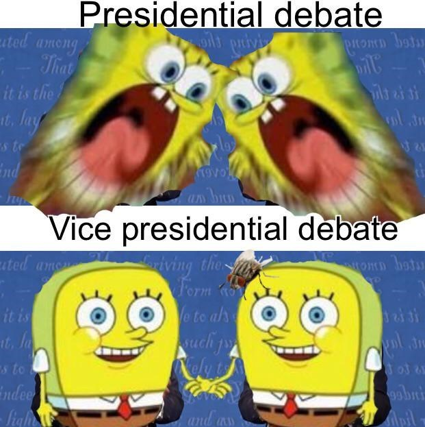 Cartoon - Presidential debate it privi ated among - That it is the it, lay pitomn botu ils ai si nd Vice presidential debate iving thes Form Ve te als uch p ated am tomn botu it is It, la s to indee - figh 9obni and