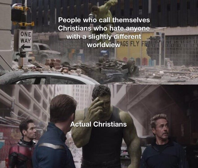 Batman - People who call themselves Christians who hate anyone with a slightly different worldview GS FLY FR ONE WAY Actual Christians