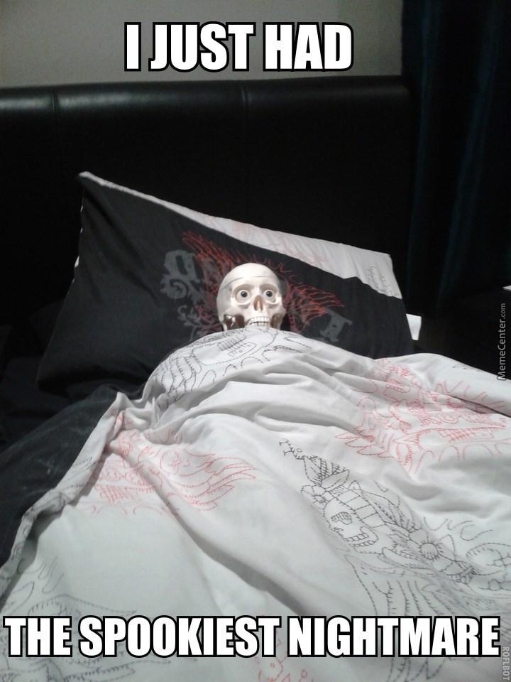 Bed sheet - I JUST HAD THE SPOOKIEST NIGHTMARE ROFLBOT MemeCenter.com