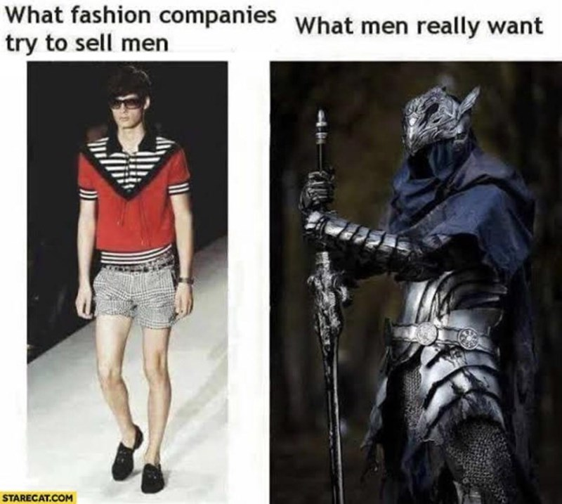 Fashion - What fashion companies What men really want try to sell men STARECAT.COM