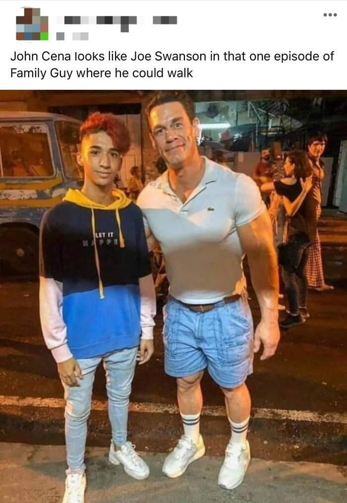 Photography - ... John Cena looks like Joe Swanson in that one episode of Family Guy where he could walk LET IT