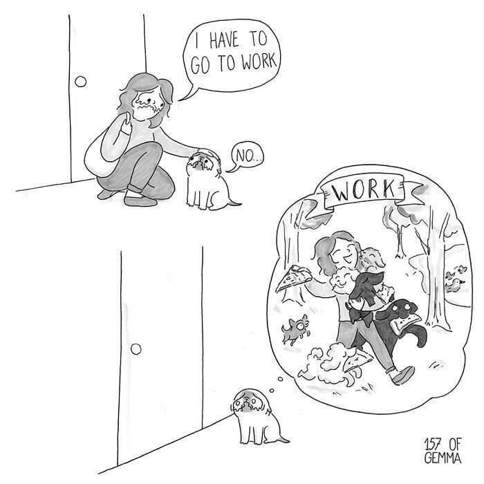Cartoon - 1 HAVE TO GO TO WORK) (NO. WORK 157 OF GEMMA