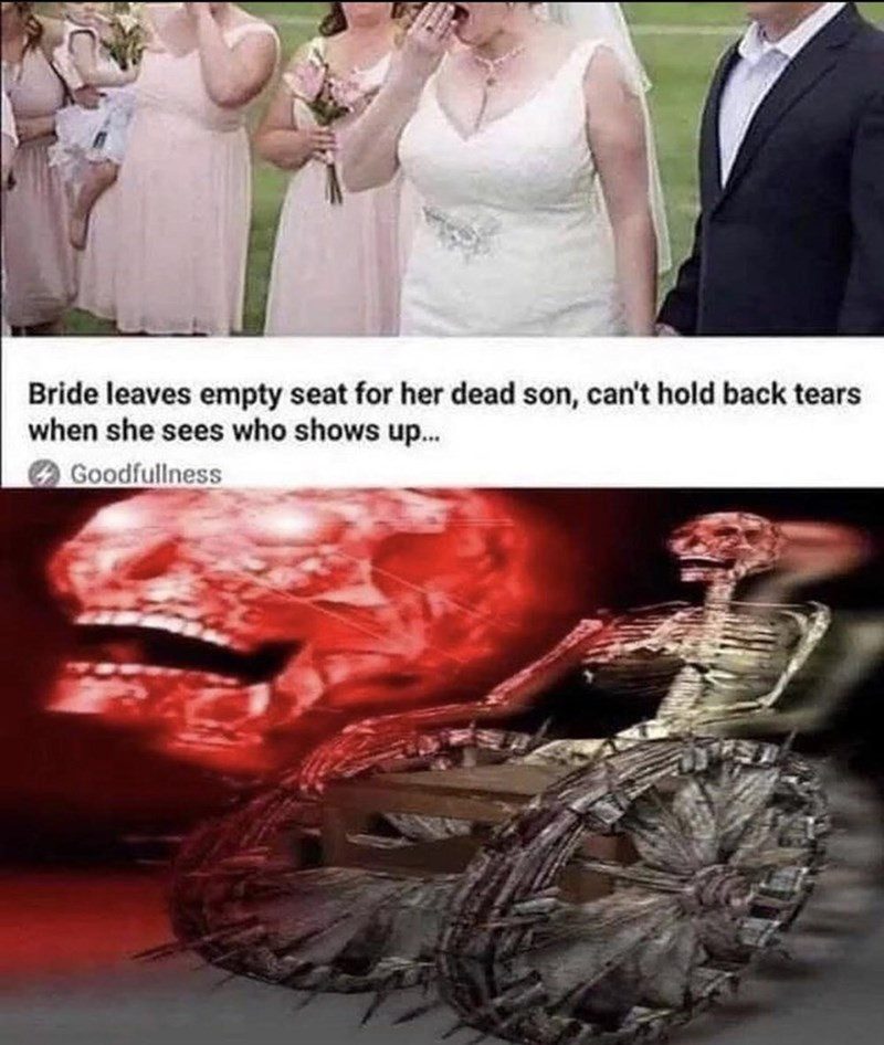 Dress - Bride leaves empty seat for her dead son, can't hold back tears when she sees who shows up... O Goodfullness
