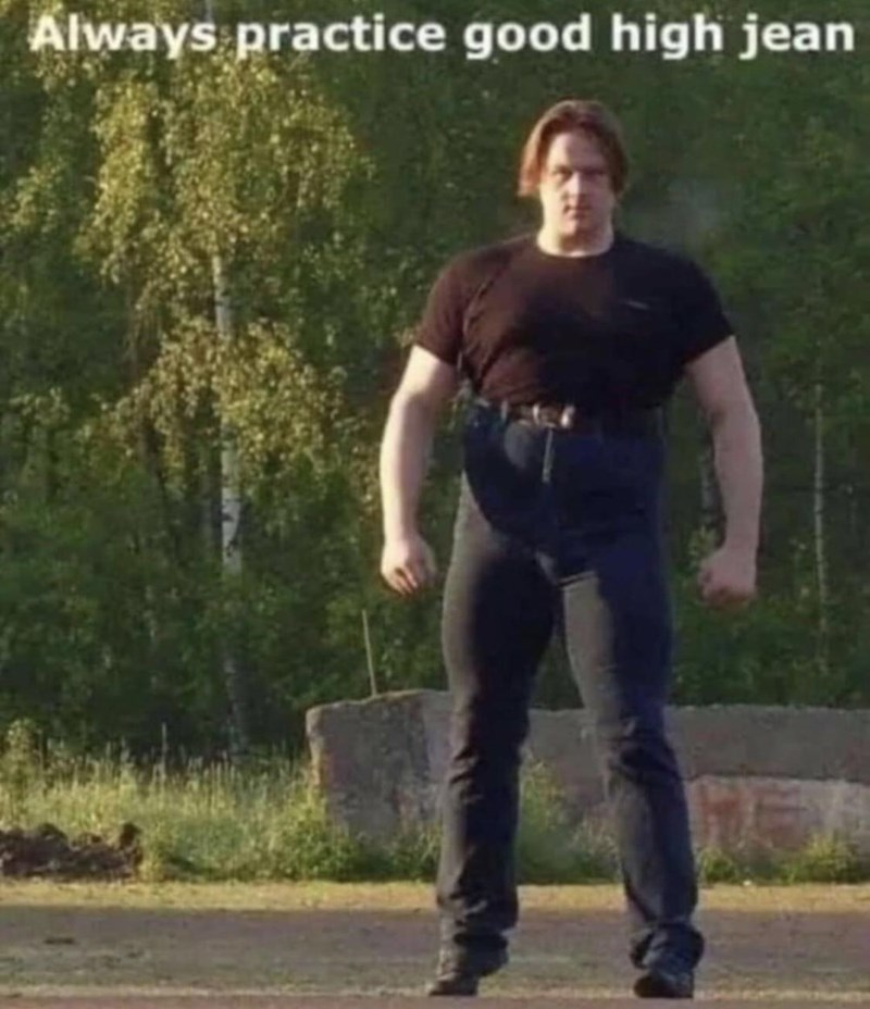 Walking - Always practice good high jean