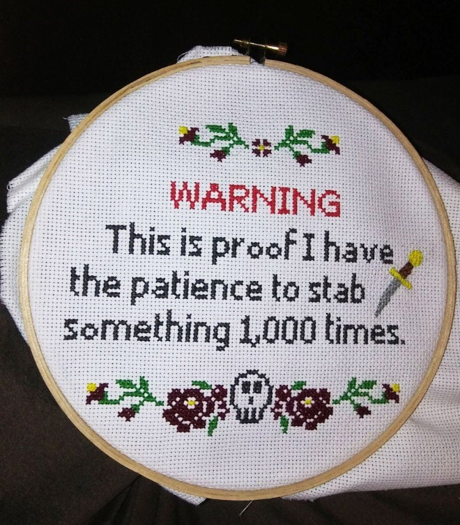 Needlework - WARNING This is proofIhave the patience to stab Something 1,000 times.