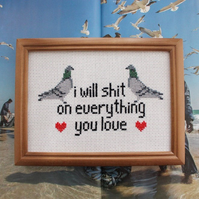 Cross-stitch - i will shit on euerything you loue