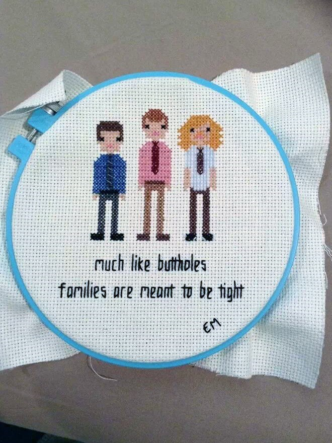 Needlework - Much like buttholes farmilies are meant to be tight EM