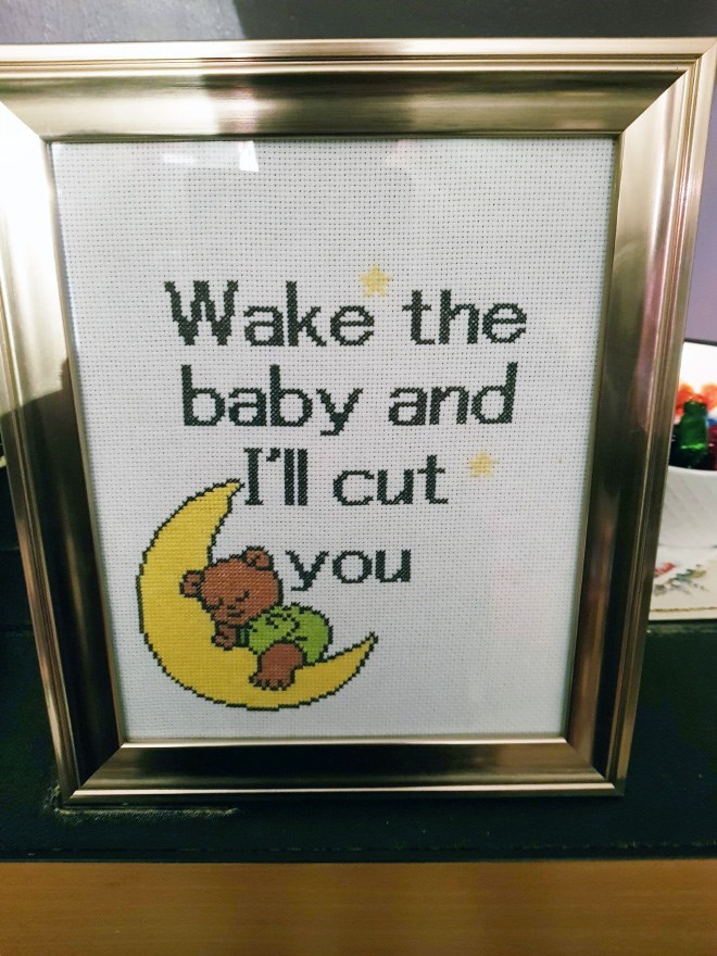 Text - Wake the baby and I'll cut you