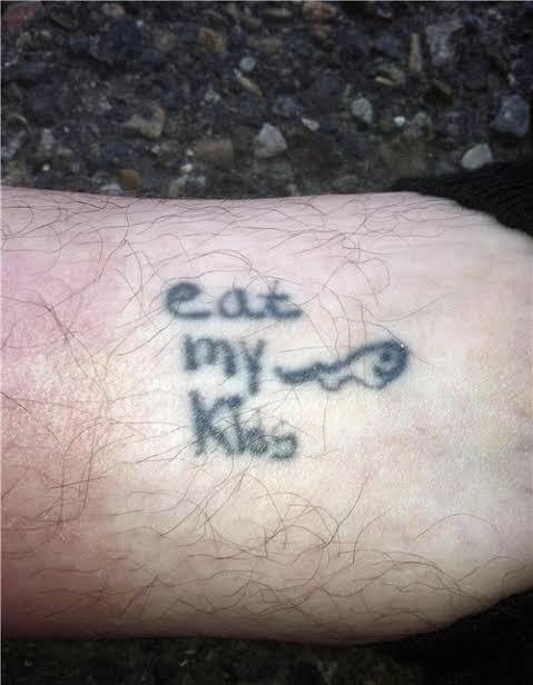 Tattoo - eat my Klos