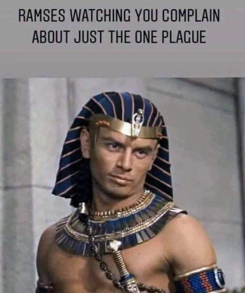 Human - RAMSES WATCHING YOU COMPLAIN ABOUT JUST THE ONE PLAGUE