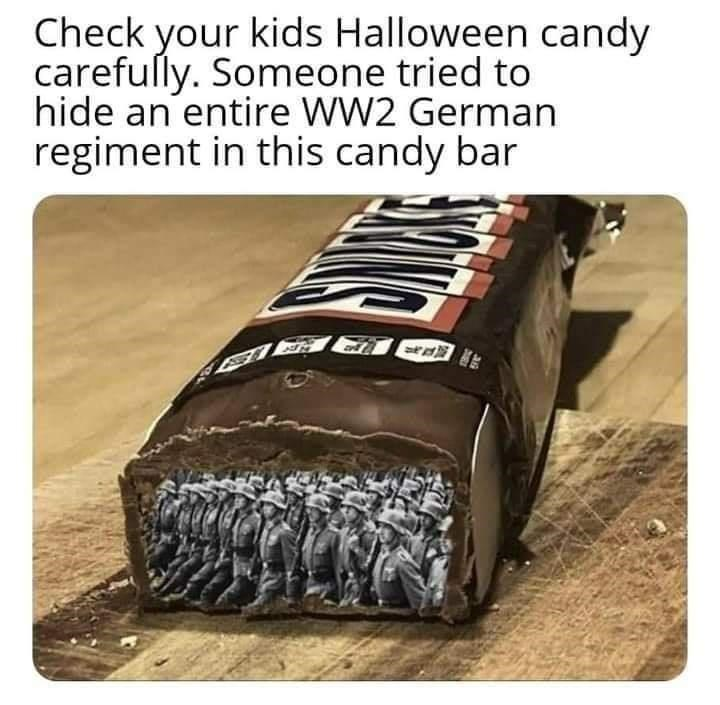 Musical instrument - Check your kids Halloween candy carefully. Someone tried to hide an entire WW2 German regiment in this candy bar