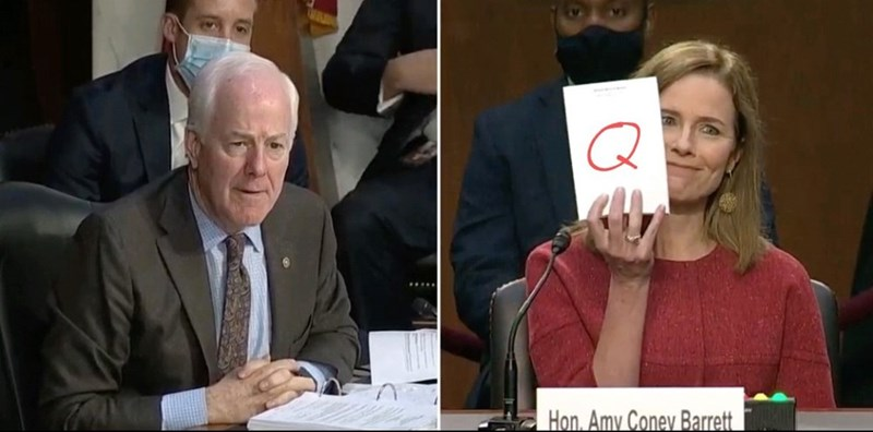 Forehead - Q Hon. Amy Coney Barrett