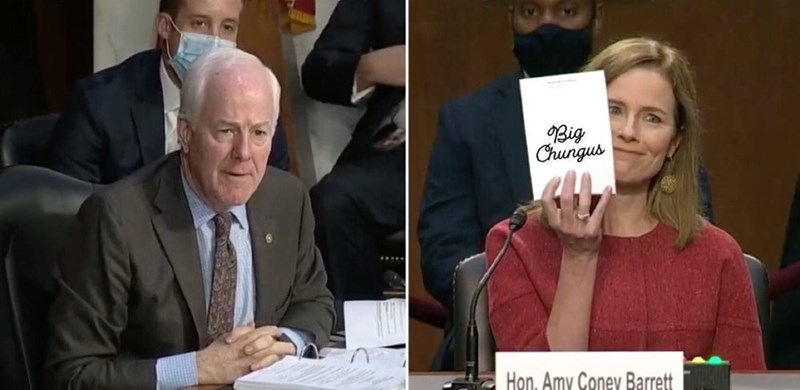 Facial expression - Big Chungus Hon, Amy Coney Barrett