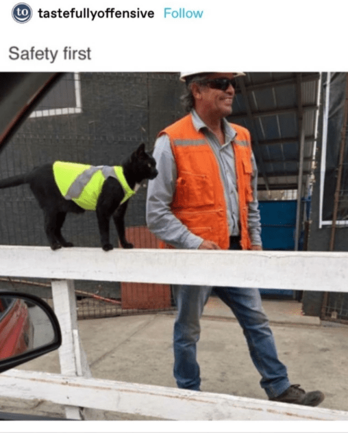 High-visibility clothing - to tastefullyoffensive Follow Safety first