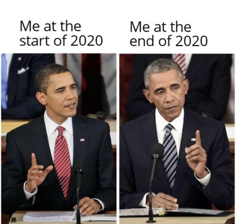 Photo caption - Me at the start of 2020 Me at the end of 2020