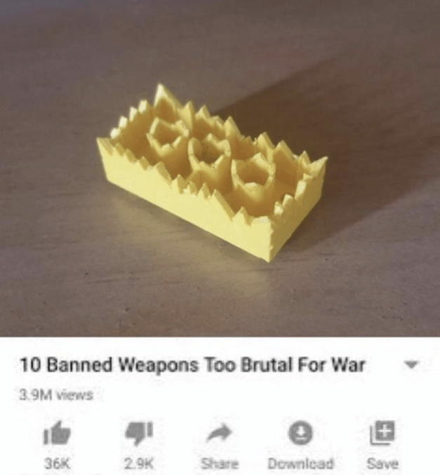 Junk food - 10 Banned Weapons Too Brutal For War 3.9M views 36K 2.9K Share Downlead Save