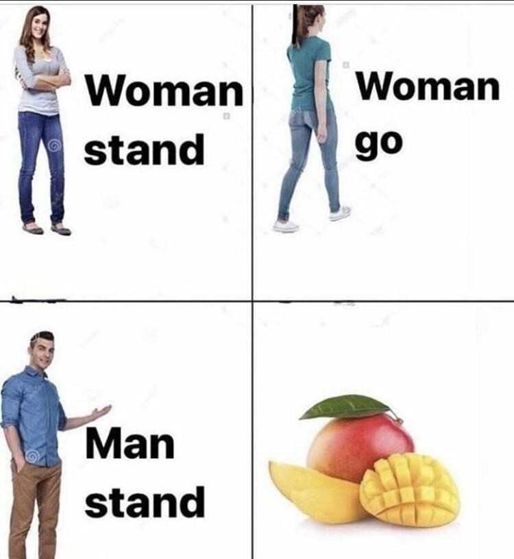 Product - Woman Woman stand go Man stand