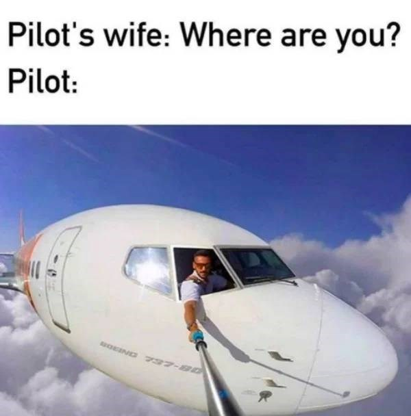 Air travel - Pilot's wife: Where are you? Pilot: OEIND 2 37-80