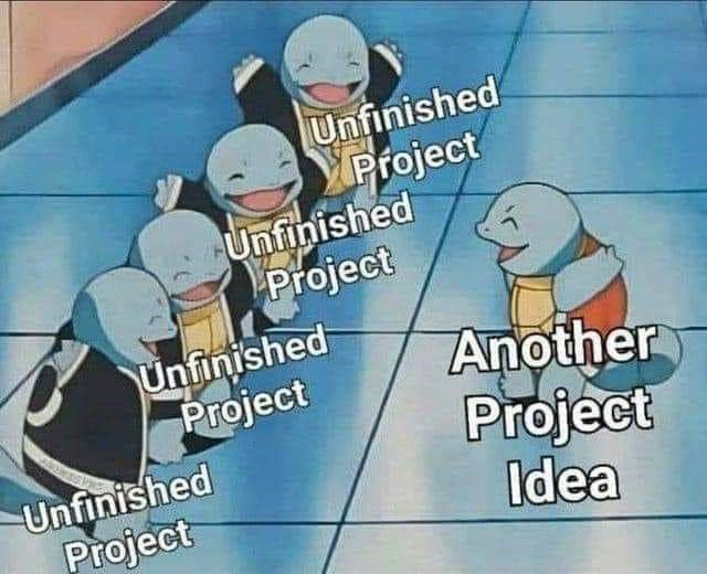 Cartoon - Unfinished YProject Unfinished Project Unfinished Project Another Project Idea Unfinished Project