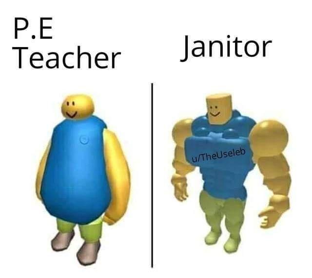 Cartoon - P.E Teacher Janitor u/TheUseleb
