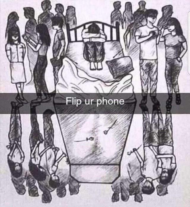 Drawing - Flip ur phone