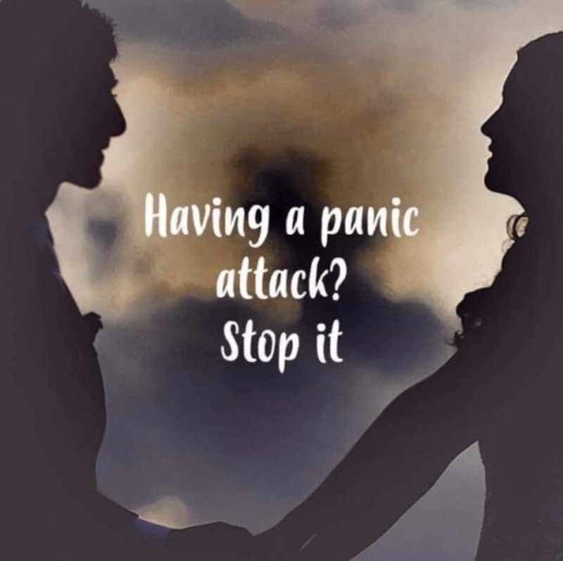 Text - Having a panic attack? Stop it