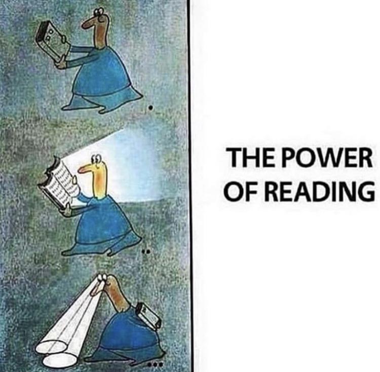 Cartoon - THE POWER OF READING