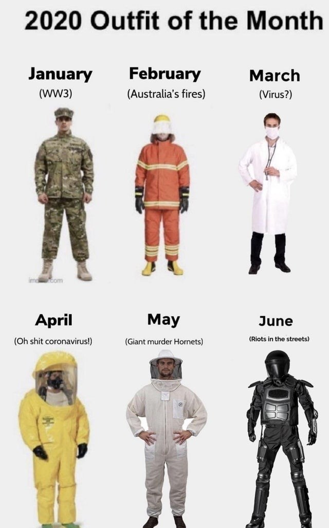 Military uniform - 2020 Outfit of the Month January February March (WW3) (Australia's fires) (Virus?) ima com April May June (Oh shit coronavirus!) (Giant murder Hornets) (Riots in the streets)