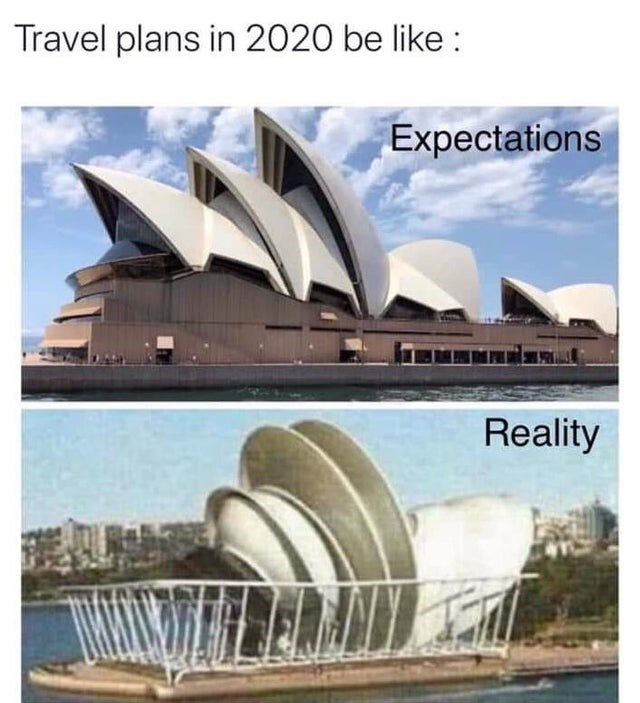 Landmark - Travel plans in 2020 be like : Expectations Reality