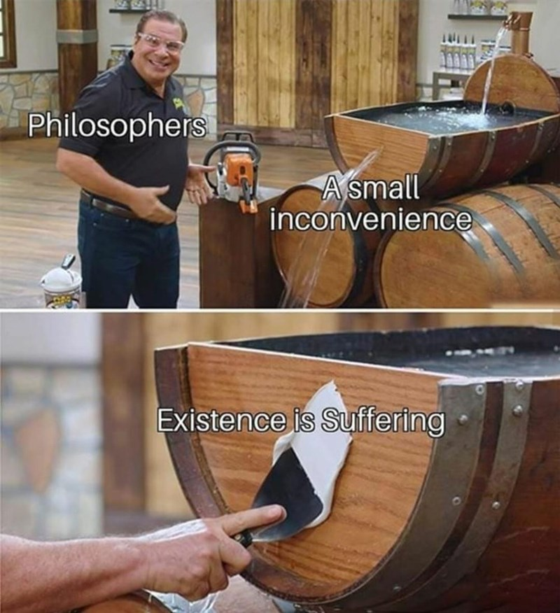 Product - Philosophers A small inconvenience Existence is Suffering