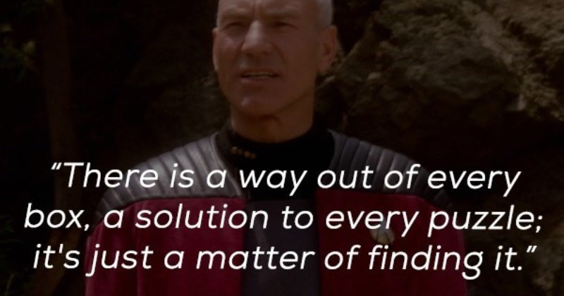 A collection of wise quotes from Star Trek Next Generation's General Picard.