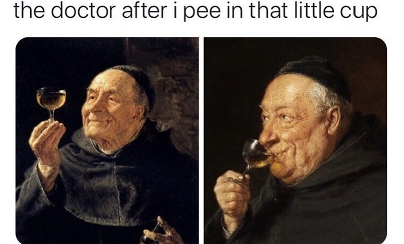 Human - the doctor after i pee in that little cup