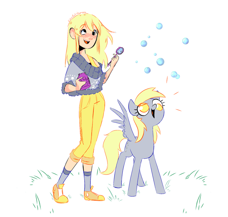 colorful horses humanized derpy hooves - 9563836672