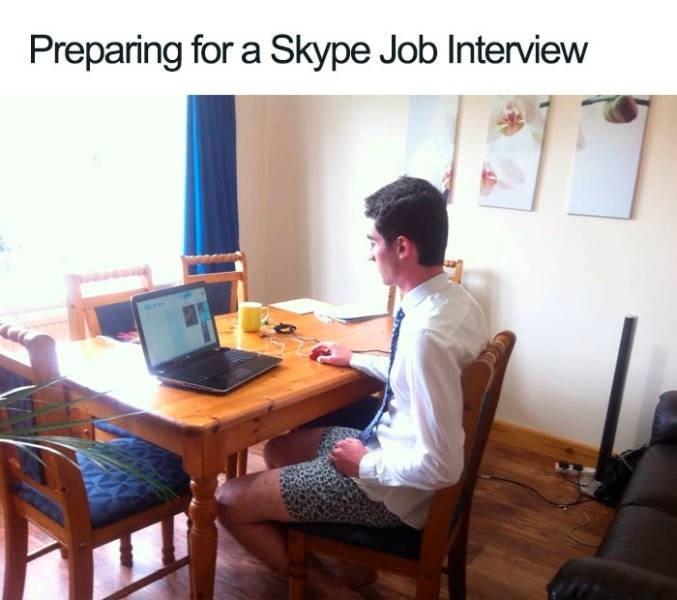 Desk - Preparing for a Skype Job Interview