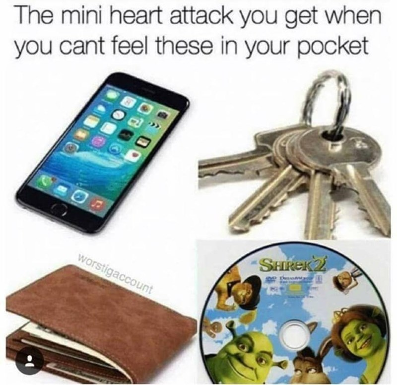Mobile phone case - The mini heart attack you get when you cant feel these in your pocket SHREK2 worstigaccount