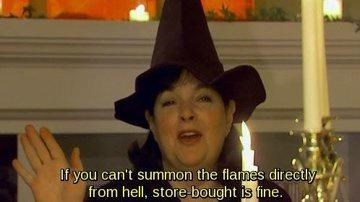 Hat - If you can't summon the flames directly from hell, store bought is fine.