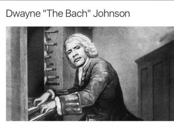 "Text - Dwayne ""The Bach"" Johnson"