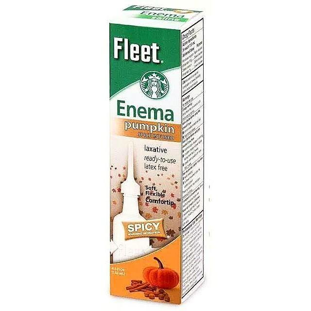 Ener ma Fleet. Enema pumpkin SPICEINEUSED laxative геady-to-use latex free Soft, Flexible Comfortip SPICY WA OSENATION