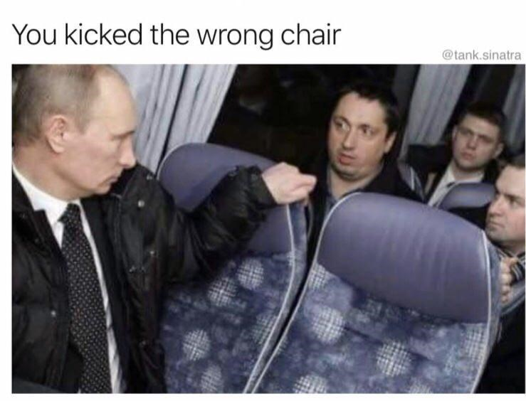 Product - You kicked the wrong chair @tank.sinatra