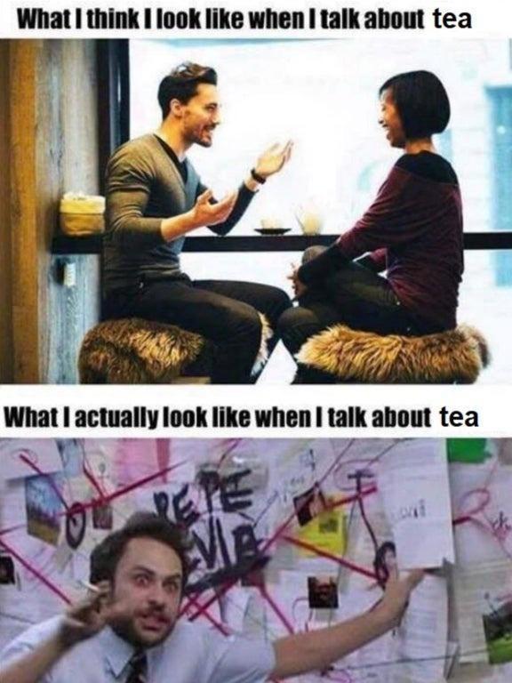 Movie - What I think I look like when I talk about tea What I actually look like when I talk about tea