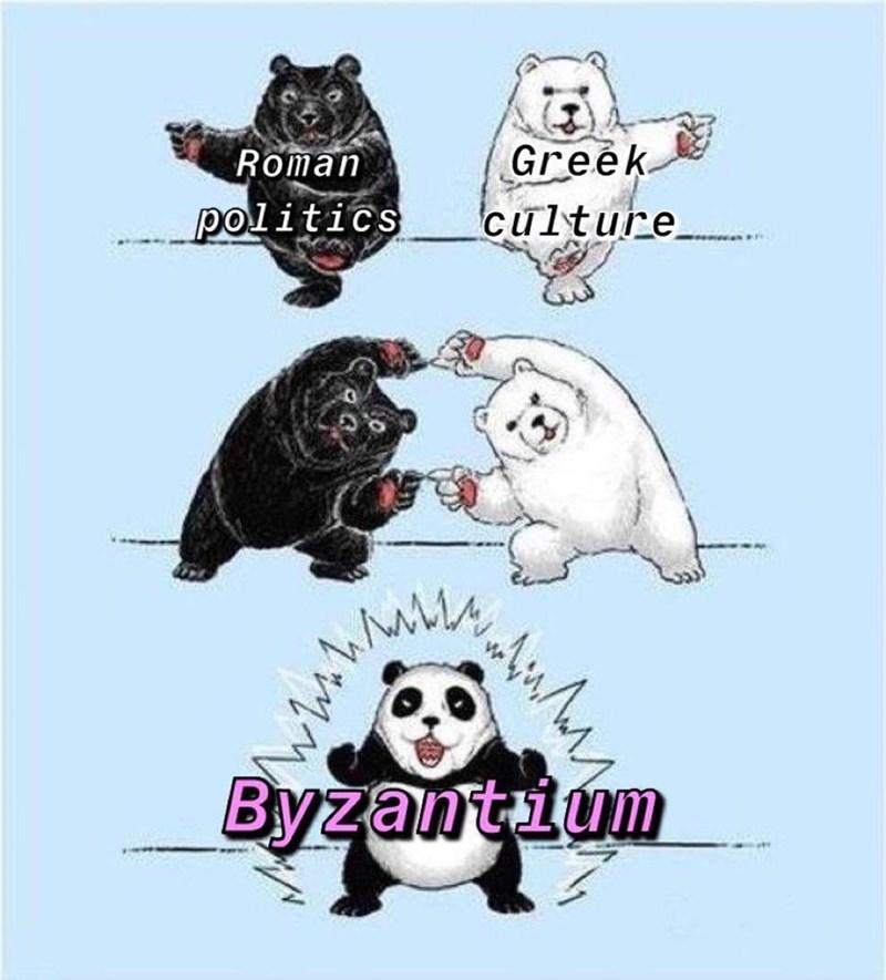 Cartoon - Greek culture Roman politics Byzantium