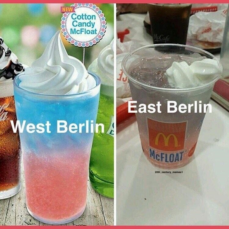 Drink - NEW Cotton Candy McFloat Caf East Berlin West BerlinA MCFLOAT 20th century memest