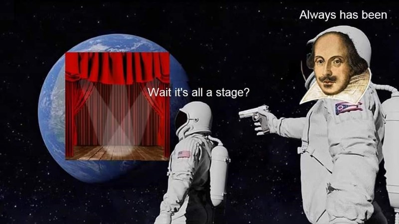 Astronaut - Always has been Wait it's all a stage?
