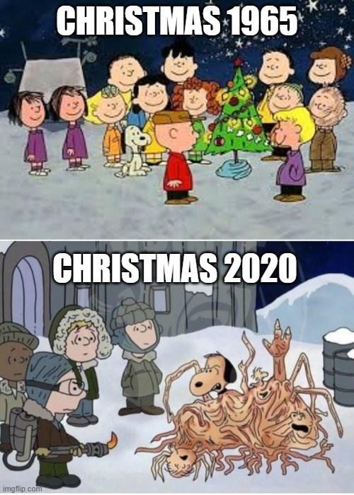 Cartoon - CHRISTMAS 1965 CHRISTMAS 2020 imgflip.com