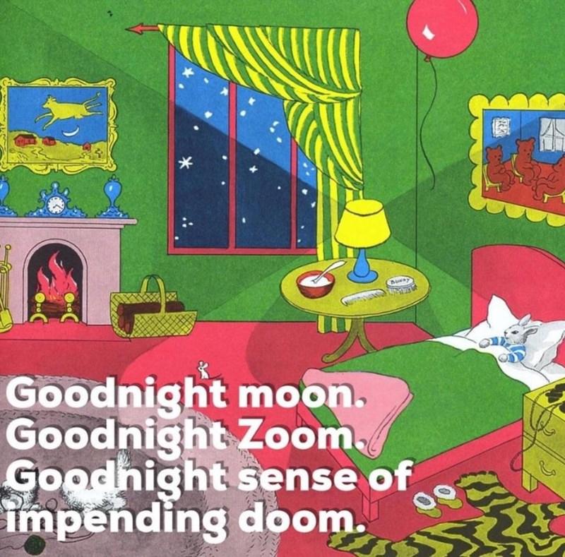 Child art - Goodnight moon. Goodnight Zoom, Goodnight sense of impending doom.