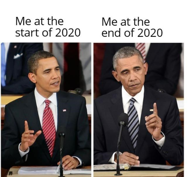 Public speaking - Me at the start of 2020 Me at the end of 2020