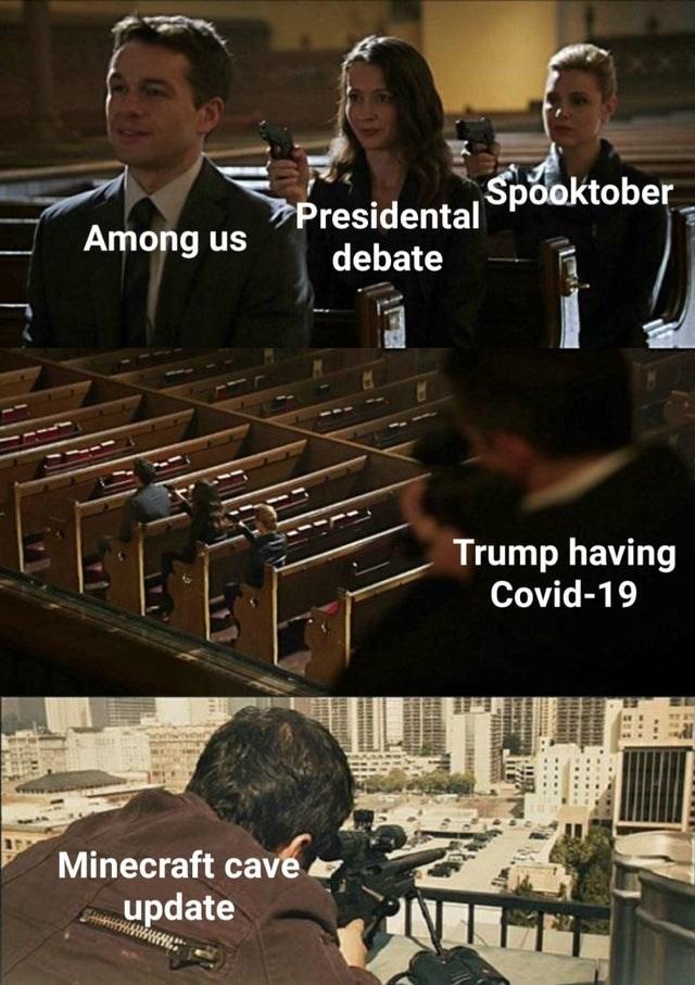 Xylophone - Presidental Spooktober Among us debate Trump having Covid-19 Minecraft cave update