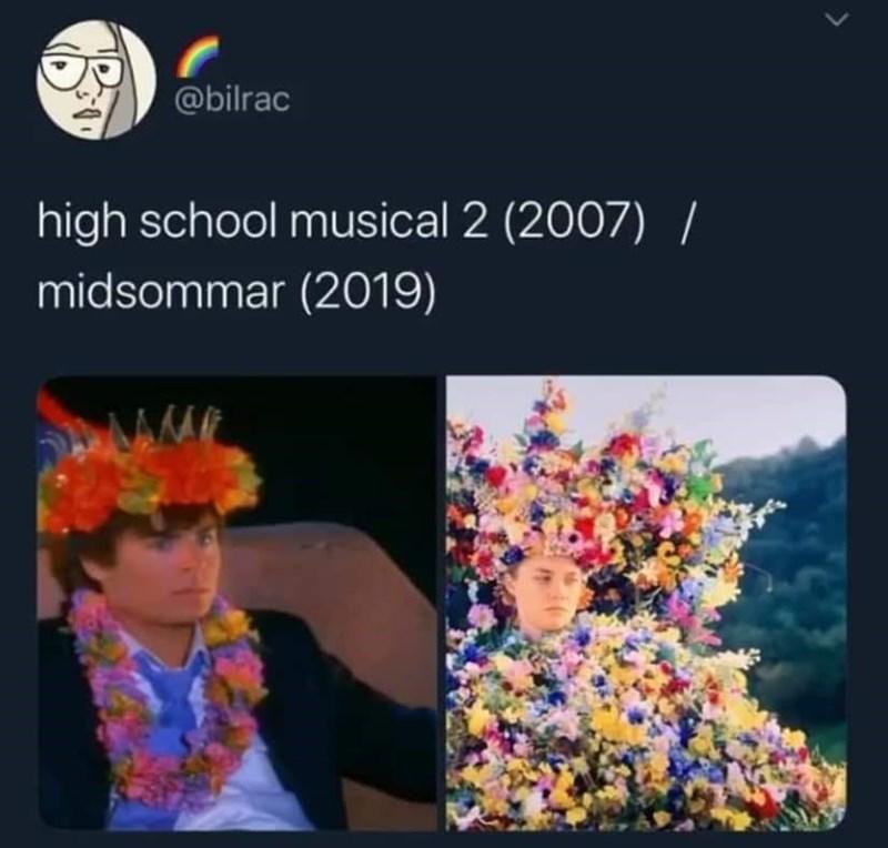 Product - @bilrac high school musical 2 (2007) / midsommar (2019)