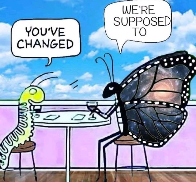 Cartoon - WE'RE SUPPOSED TO YOU'VE CHANGED