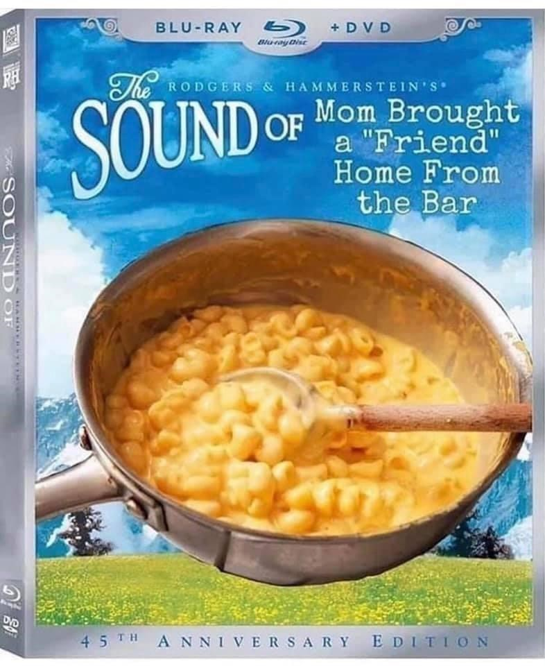 """Cuisine - BLU-RAY + DV D The RODGERS & HAMMERSTEIN'S SOUND Mom Brought a """"Friend"""" Home From the Bar 45 TH ANNIVERSARY EDITI ON A SOU ND OF"""